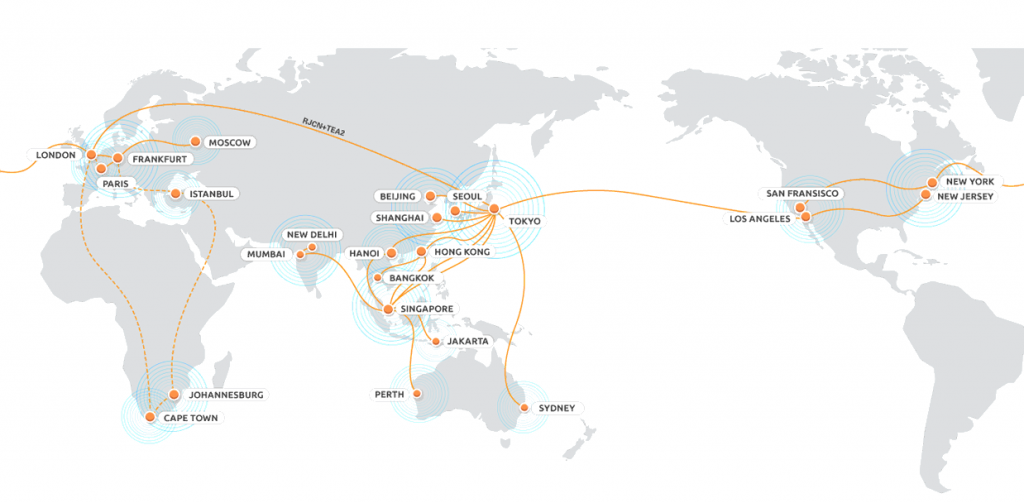 Telehouse Global Data Centre Network Map 1024x503 DISASTER RECOVERY